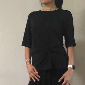 Topshop Black Top with Faux Knot Size 6/38!!!!
